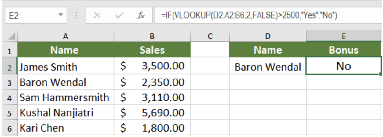 excel two if statements in one formula