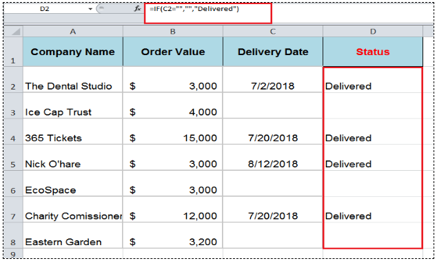 How to Determine IF a Cell is Blank or Not Blank in Excel