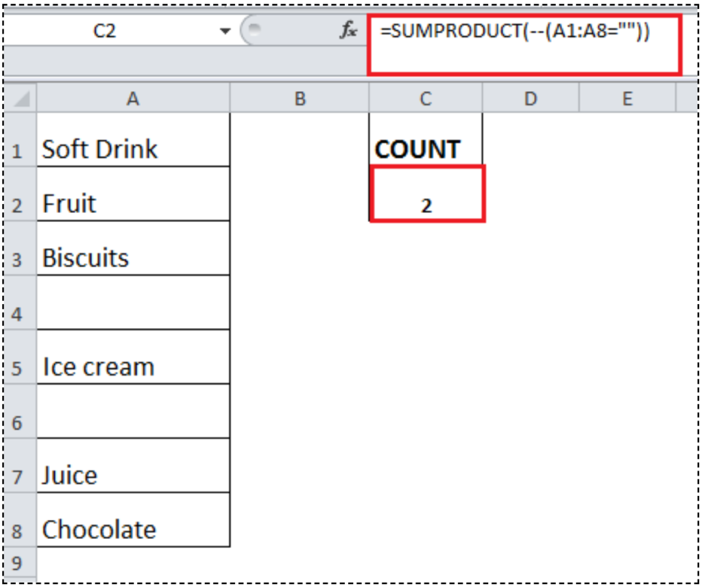 How to Count Blank or Empty Cells in Excel   Excelchat   Excelchat