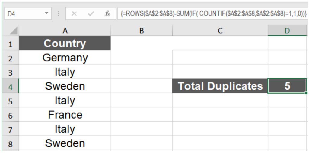 How to Count Duplicate Values in Excel | Excelchat