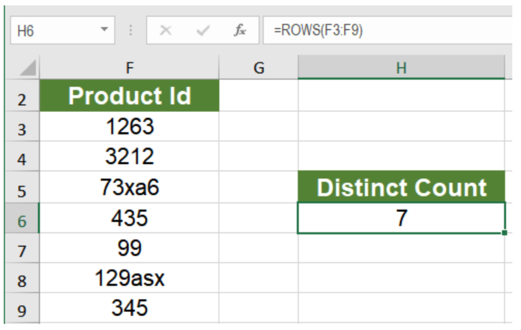 How to Count Unique and Distinct Values in Excel | Excelchat