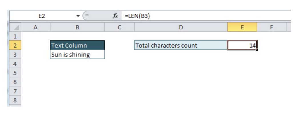 How to Count Characters in Excel