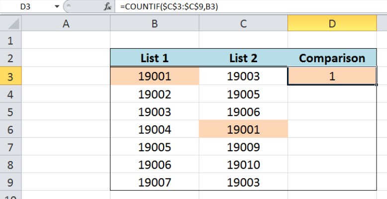 How to Compare Two Columns in Google Sheets and Excel