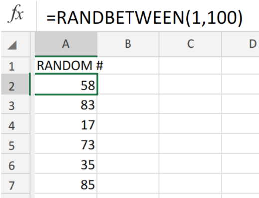 Excel formula: Random number between two numbers - Excelchat
