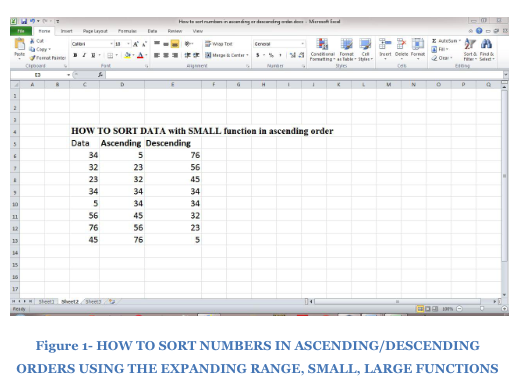 How to Sort Numbers in Ascending or Descending Order in Excel
