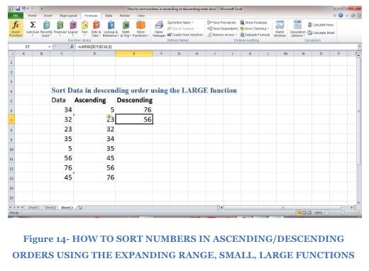Excel formula: Sort numbers ascending or descending - Excelchat
