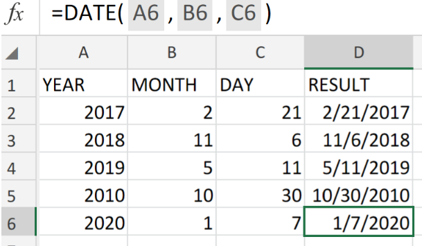 How to Use the Excel DATE Function