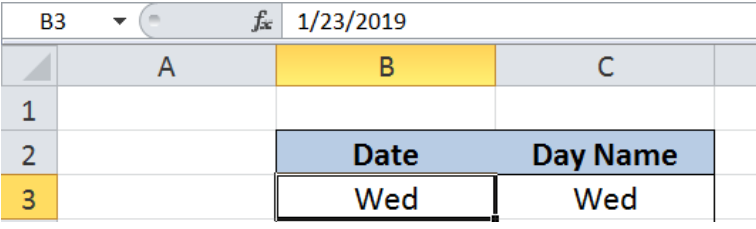Excel formula: Get day name from date - Excelchat