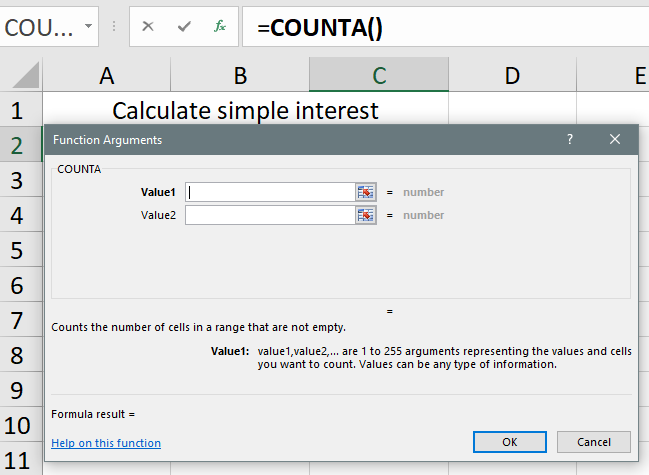 excel formula calculate simple interest