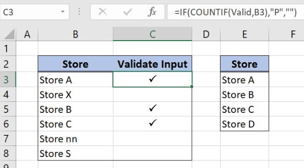 How to Validate Input with a Check Mark in Excel