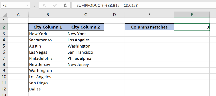SUMPRODUCT function in excel.