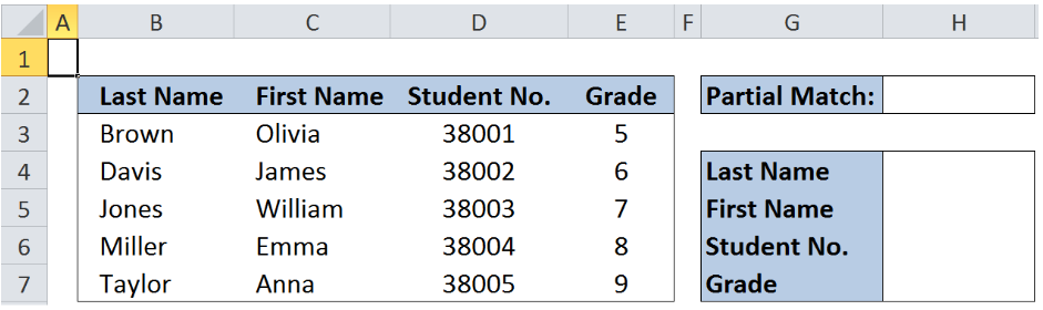 Excel formula: Partial match with VLOOKUP