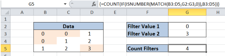 Excel formula: Filter values in array formula - Excelchat