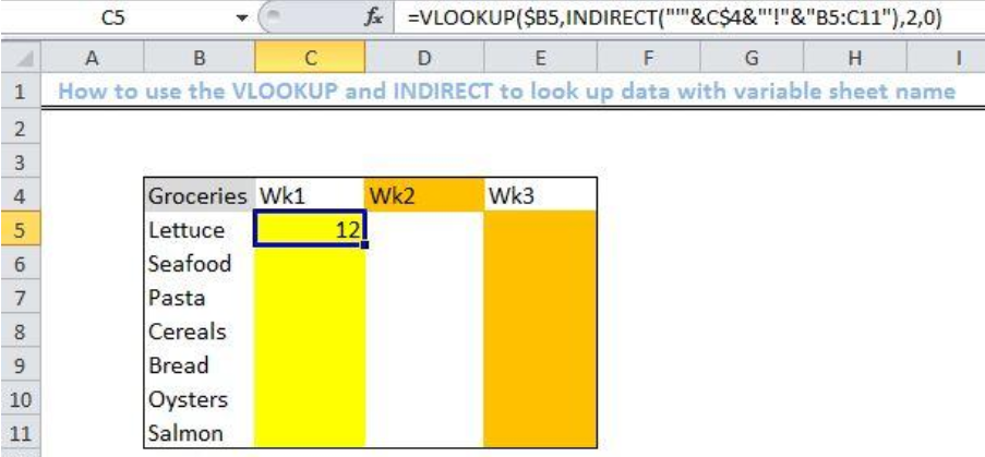 How to Lookup with Variable Sheet Name | Excelchat