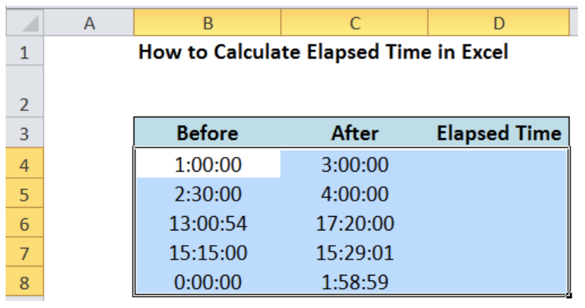How to Calculate Elapsed Time in Excel   Excelchat