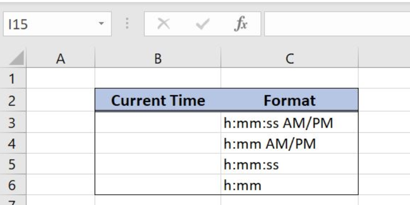 How to Display the Current Time in Excel | Excelchat