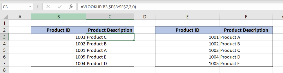 How to Copy a VLOOKUP Formula Down a Column | Excelchat