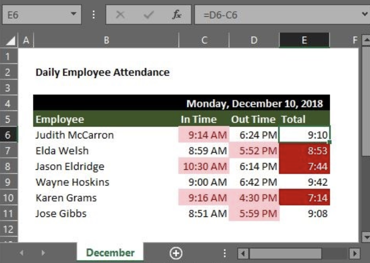 Using Conditional Formatting Times in Excel   Excelchat