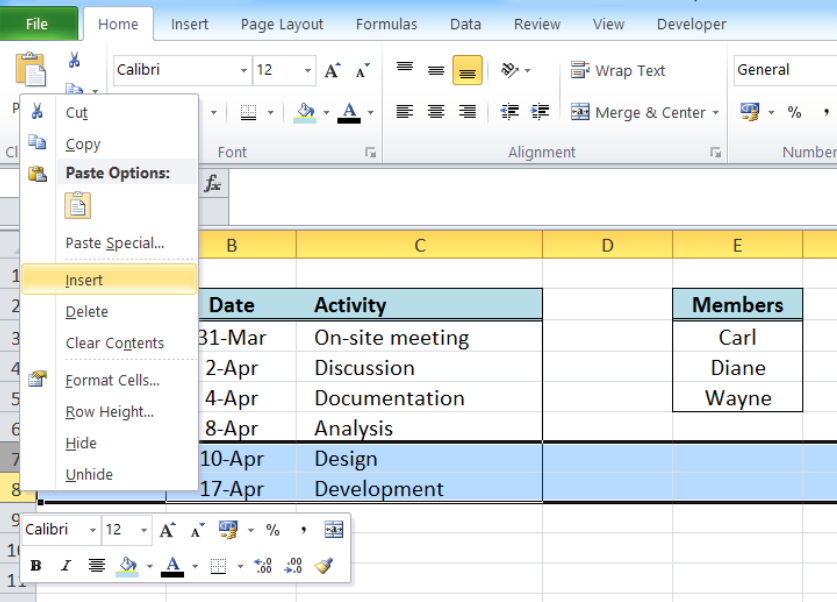How to insert multiple rows in Excel? | Excelchat