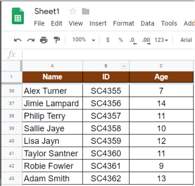 How To Repeat Header Row When Scrolling In Google Sheets