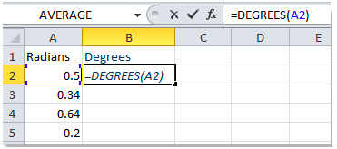 How to convert radians to degrees in Excel - Excelchat