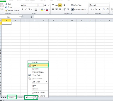 How to delete multiple sheets in Excel - Excelchat | Excelchat