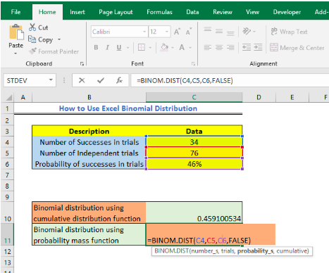 How to Use Excel Binomial Distribution - Excelchat | Excelchat