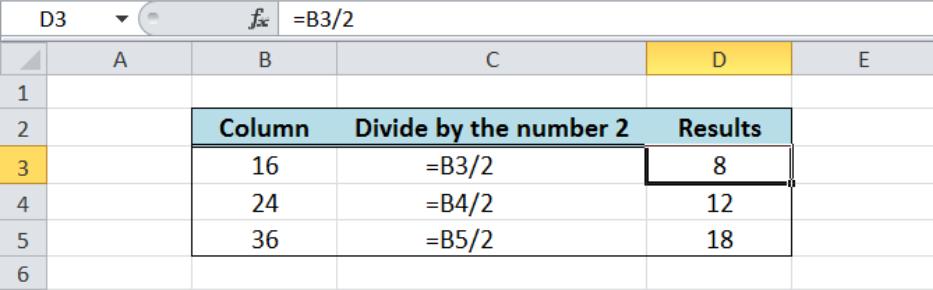 How to Divide in Excel and Google Sheets | Excelchat
