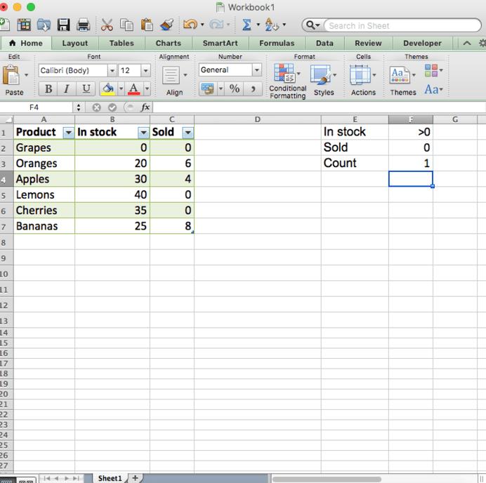 How to Use the COUNTIF Function to Count Cells Between Two
