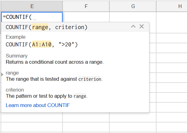 How to Use a COUNTIF Function in Google Spreadsheets