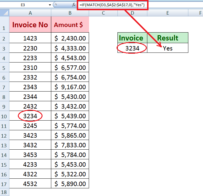 How to Check If One Value Exists in a Column | Excelchat