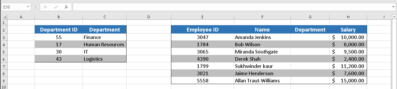 Create a drop down list from a list of items