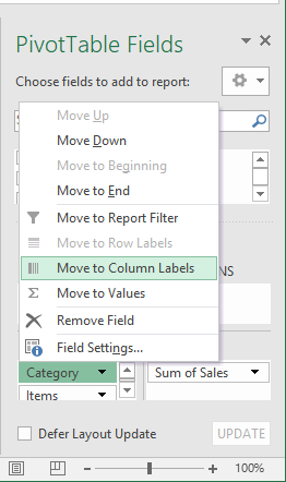 Instructions for Transposing Pivot Table Data | Excelchat