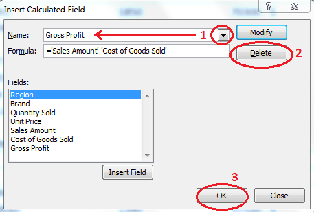 Working with a Calculated Field in an Excel Pivot Table