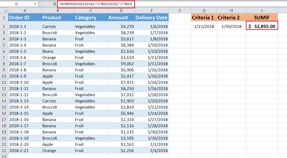 How to Use SUMIF with Multiple Criteria in Excel | Excelchat