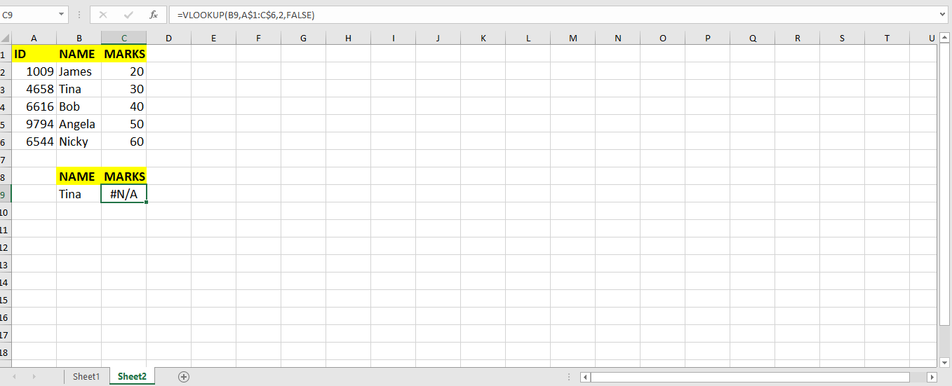 What Are Some Common Errors When Using VLOOKUP? | Excelchat