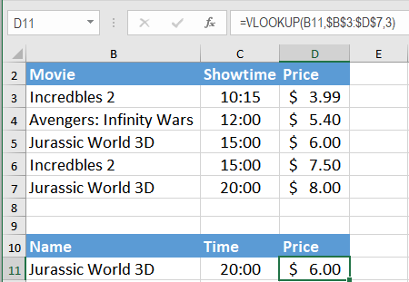 Using VLOOKUP on multiple columns | Excelchat
