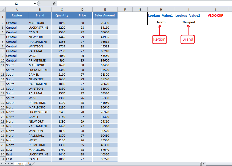 Using VLOOKUP with Multiple Criteria