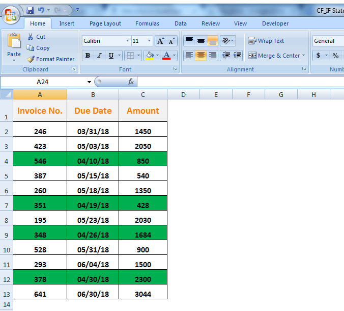 How to Combine Conditional Formatting with an IF Statement