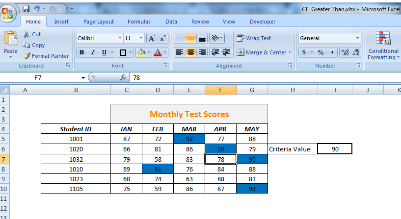 How To Use Conditional Formatting To Highlight Cells Less Than Or